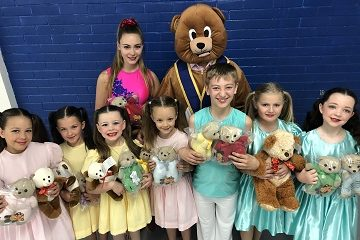Young dancers and Union Mark support the TLC Teddies