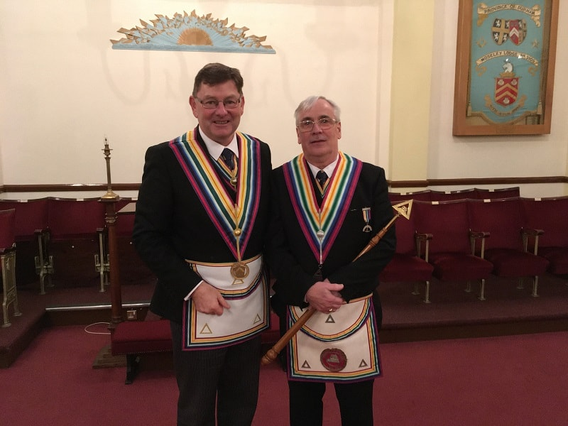 Deputy PGM with the Worshipful Commander