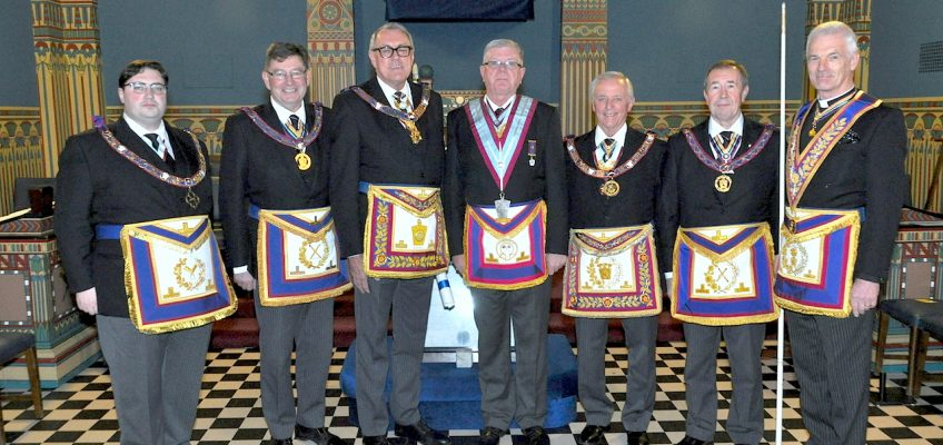 Dignitaries at Jarrow Mark Lodge Centenary