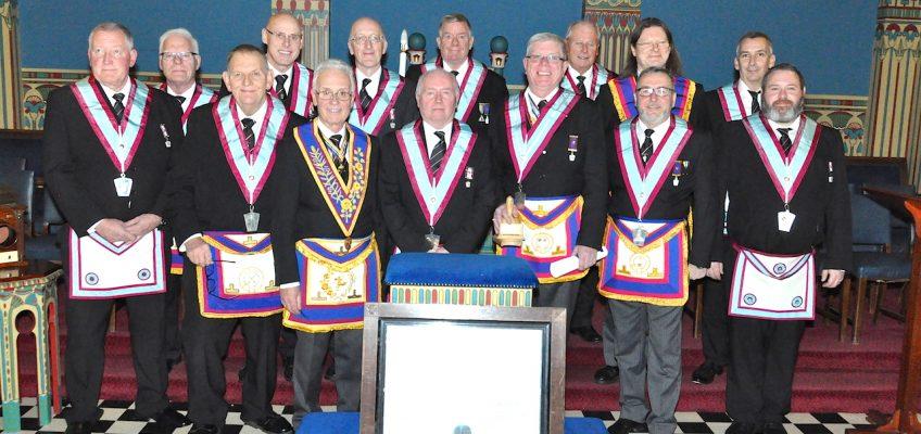 Officers of Jarrow Mark Lodge on their Centenary