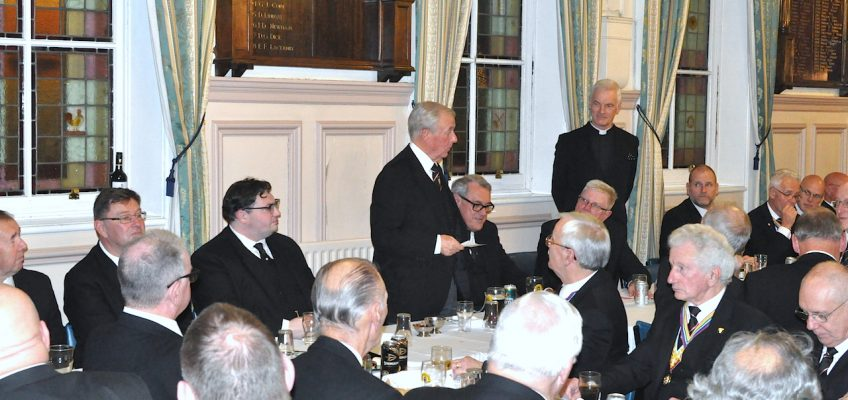 Toasting the Assistant Grand Master