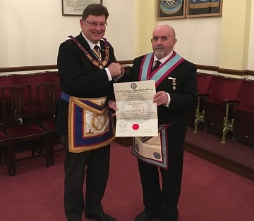 George Washington Lodge takes the Deputy PGM back to his roots