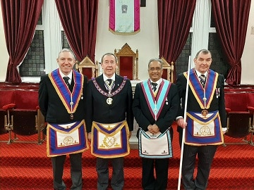 Eclectic Lodge of Mark Master Masons welcomes the Assistant PGM